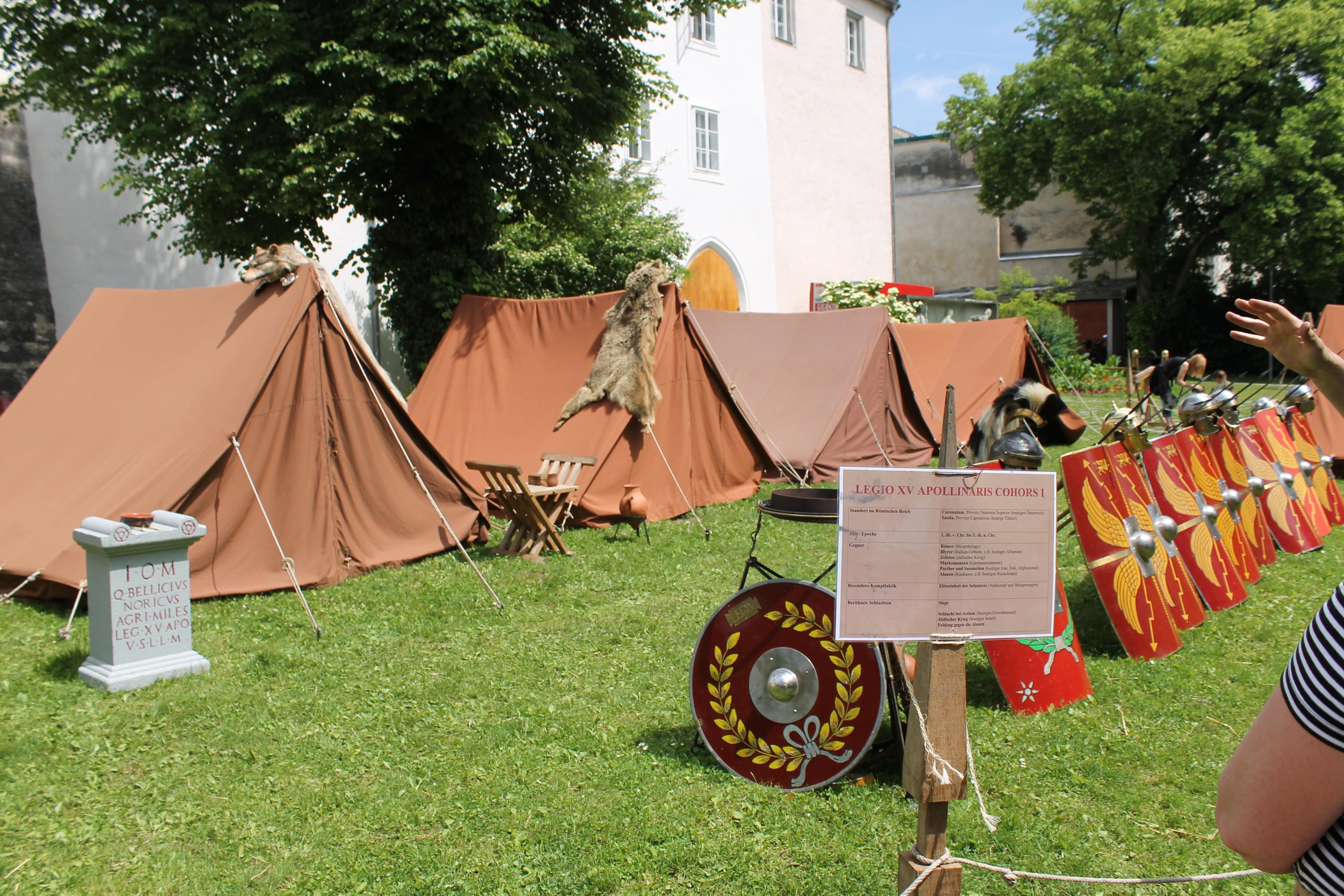 """Römerfest Wels 2015 - Auf den Spuren der Stadt """"Ovilava"""""""