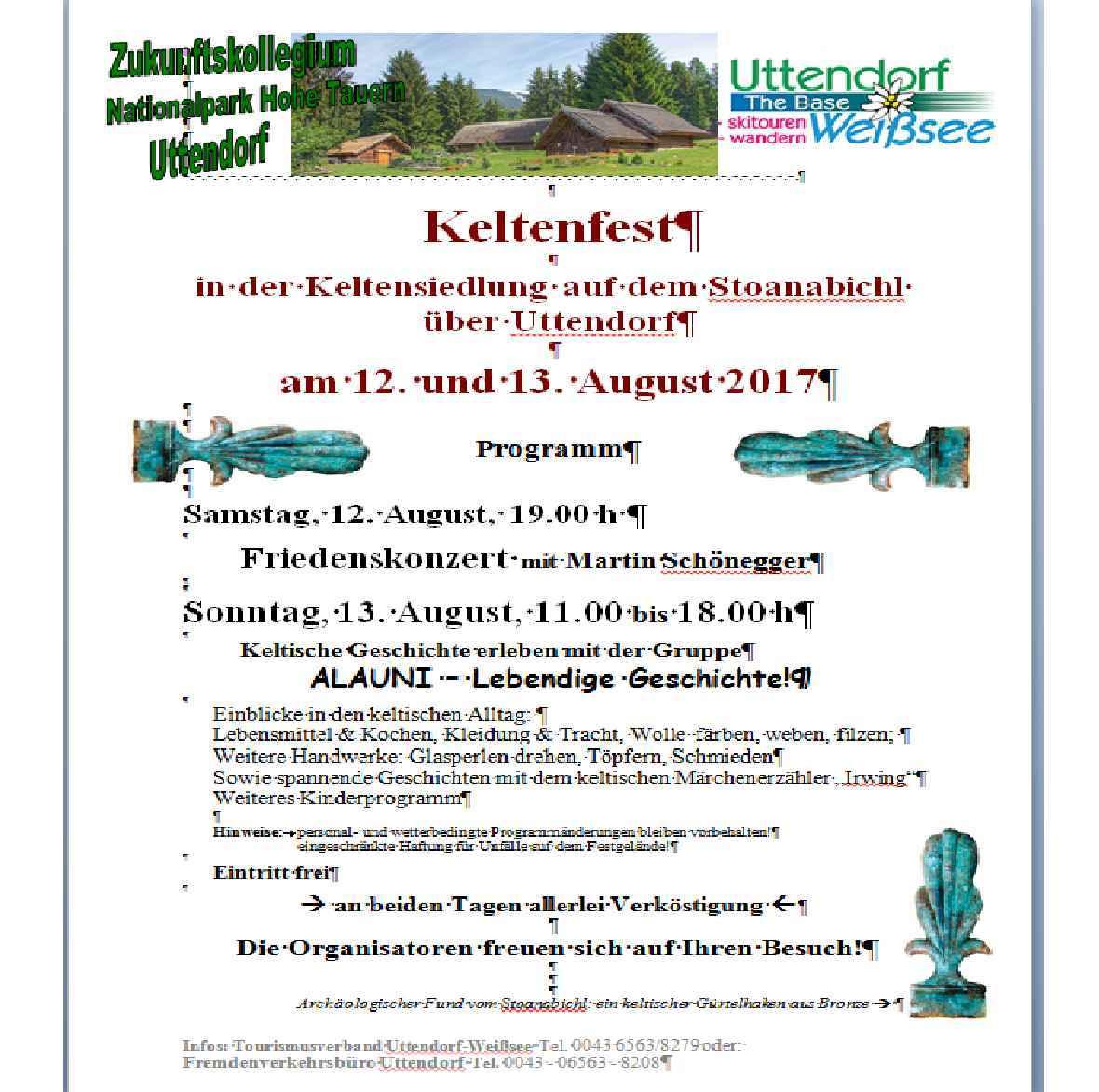 Einladung Uttendorf 2017